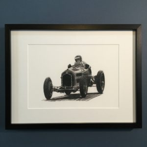 Framed A4 print of original artwork Alfa Rome P3 by John Rushton.